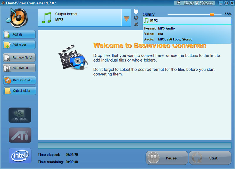 Screen Video to MP3 Converter