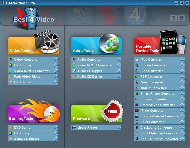 Click to view Best4VideoSuite 2.5.0 screenshot